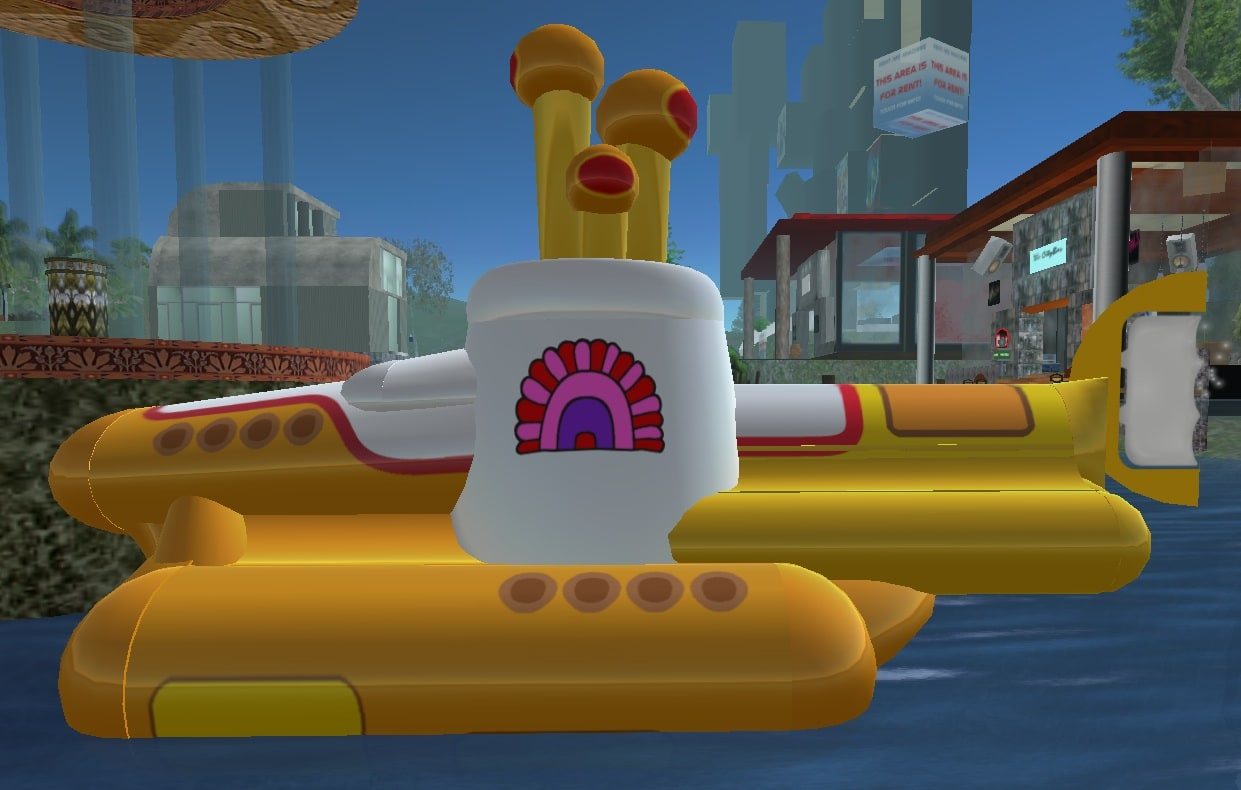 Yellow Submarine in Second Life