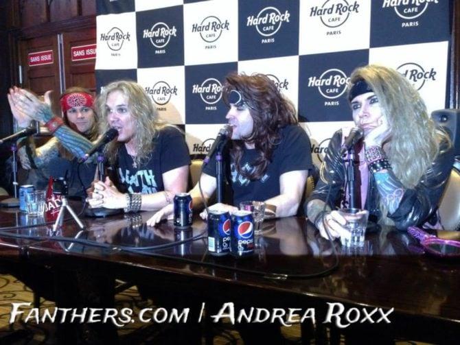 Steel Panther Pressekonferenz @ Hard Rock Cafe Paris, 30.01.2014