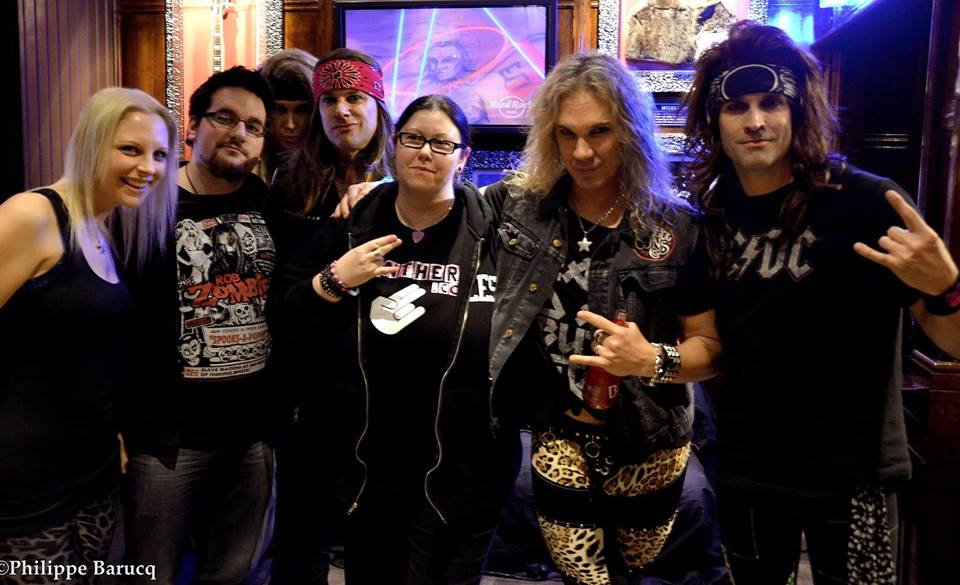 Steel Panther @ Hard Rock Cafe Paris - photo: Philippe Barucq / Replica Promotion