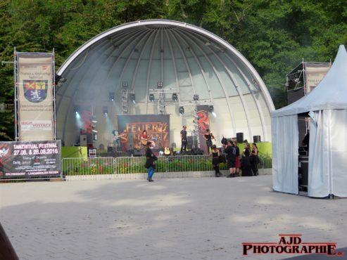 Feuerschwanz am 12.08.2016 auf den Phantasie und Mittelaltertagen Saarbrücken