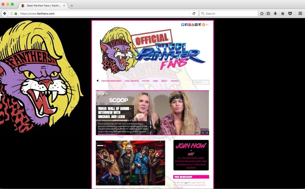 Fanthers rise! - Steel Panther Fans / Fanthers.com wird zum offiziellen Fanclub