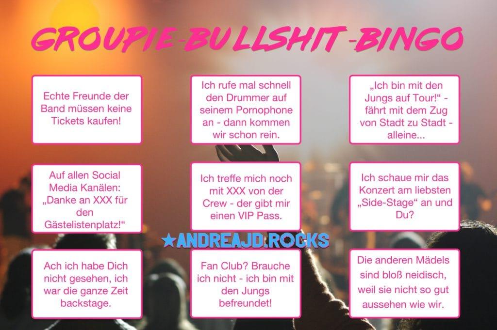 Groupie-Bullshit-Bingo